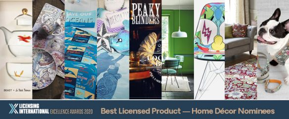 Nominees for Best Licensed Products: Home Décor Licensing Awards