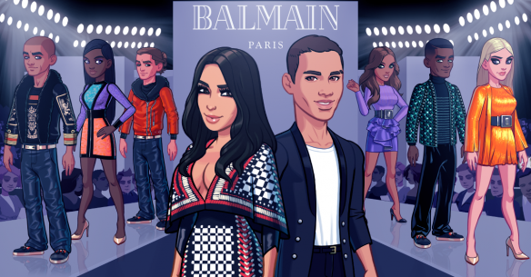 Kim Kardashian Hollywood branded virtual goods Balmain