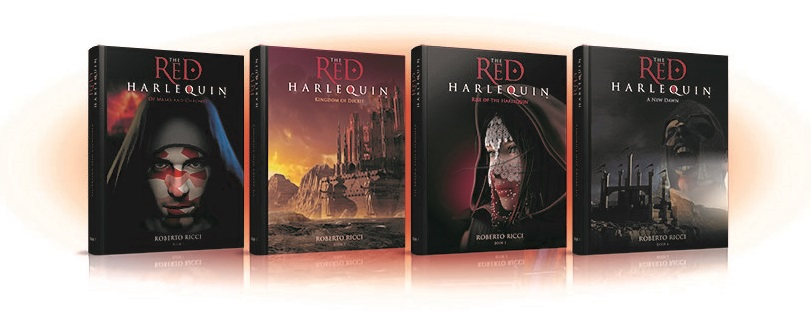 The Red Harlequin Gets Spanish and Italian Audiobook Deals image