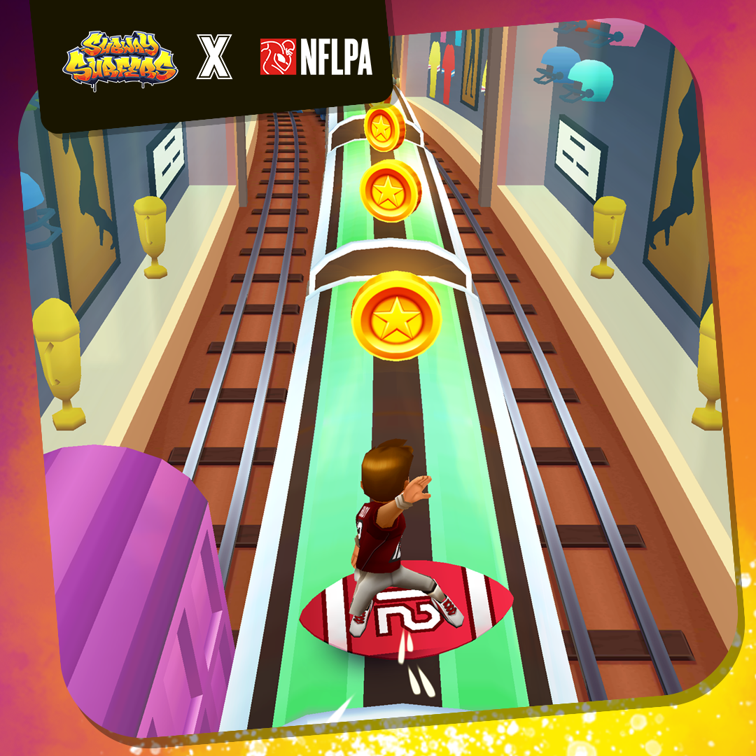 NFL Superstars Take a Run In Subway Surfers image