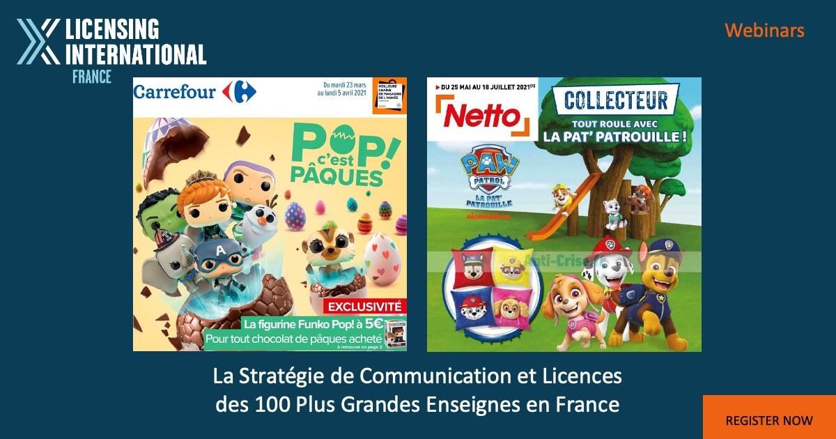 Webinar – La stratégie de communication et licences des 100 plus grandes enseignes en France image