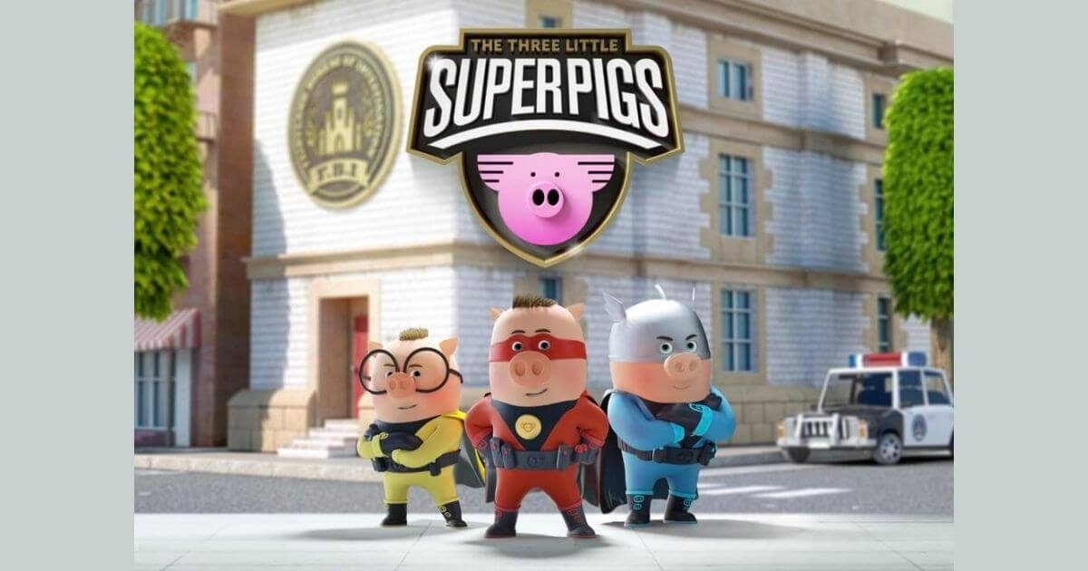 Jez Hall joins The Three Little Superpigs, the new original animated series from Planeta Junior and Fourth Wall image