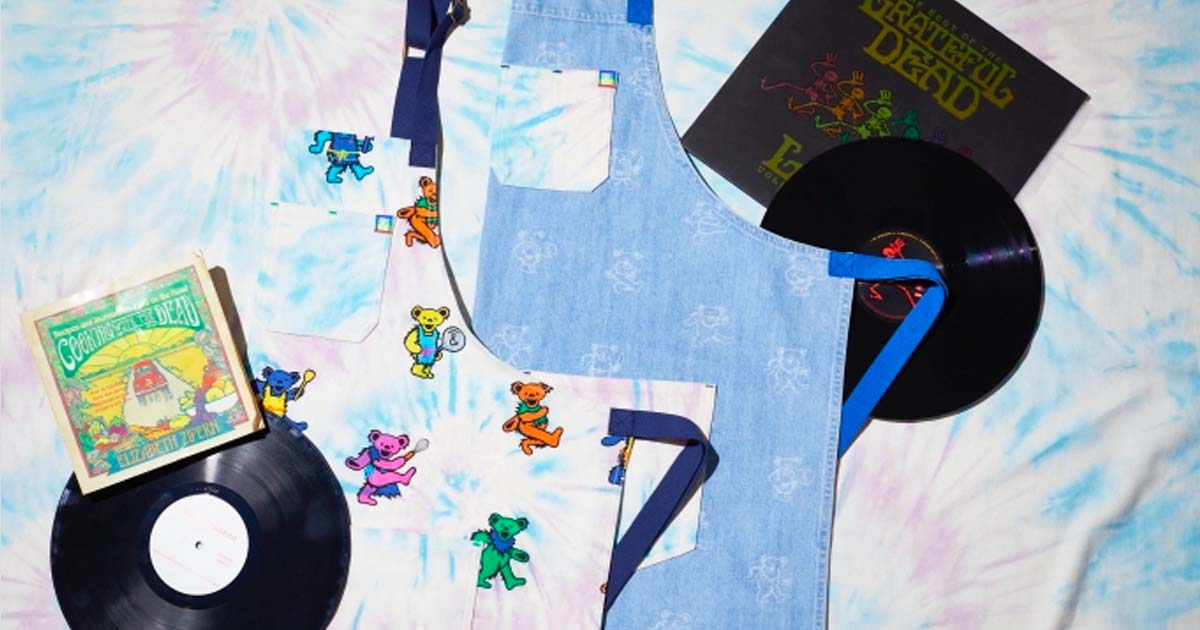 Hedley & Bennett Release Psychedelic Apron Collection with the Grateful Dead image